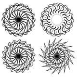 Геометрические элементы - комплект концентрической спиральной формы 4 Стоковая Фотография RF