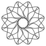 Геометрические элементы мандалы, мотивы мандалы Абстрактное круговое sh Стоковые Фотографии RF