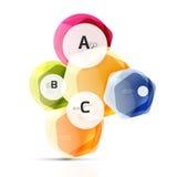 Геометрические элементы aqua шестиугольника Стоковое Изображение