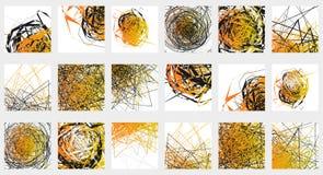 Геометрический абстрактный комплект иллюстрации 18 различных художнических бесплатная иллюстрация
