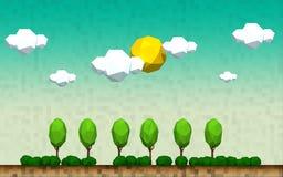 Геометрический ландшафт дерева сельской местности Стоковые Фото