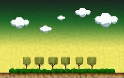 Геометрический ландшафт дерева сельской местности Стоковые Фотографии RF