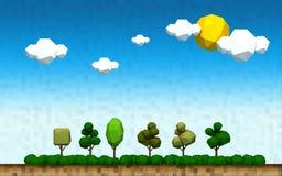 Геометрический ландшафт дерева сельской местности Стоковая Фотография RF