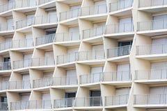 Геометрический балкон здания Стоковая Фотография RF
