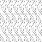 Геометрический безшовный вектор картины Стоковое Фото