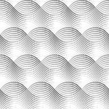 Геометрический безшовный овал картины развевает белая предпосылка Стоковые Фото