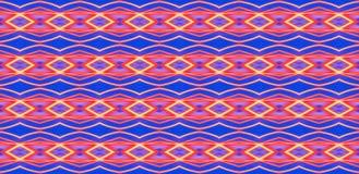 Геометрический безшовный орнамент красных элементов на голубом background_ стоковое изображение rf