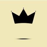Геометрический винтажный шаблон вектора дизайна минимализма логотипа кроны Стоковые Изображения