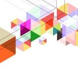 Геометрический графический абстрактный треугольник, multicolor предпосылка шестиугольника Стоковое Изображение