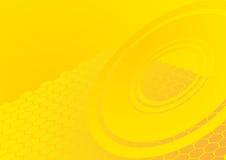 геометрический желтый цвет картины Иллюстрация штока