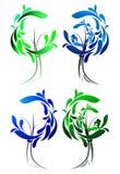 Геометрический зеленый цвет 7 Стоковые Фото