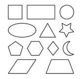Геометрический дизайн значка символа вектора форм Стоковые Фото