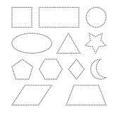 Геометрический дизайн значка символа вектора форм Стоковые Изображения RF