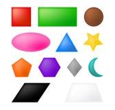Геометрический дизайн значка символа вектора форм Стоковые Изображения