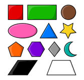 Геометрический дизайн значка символа вектора форм Стоковое Изображение