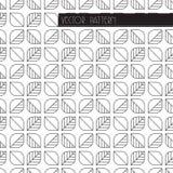 Геометрический дизайн листьев Предпосылка вектора безшовная с флористическим мотивом Простая minimalistic ботаническая текстура Стоковые Фотографии RF