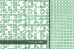 Геометрический дизайн листьев Предпосылка вектора безшовная с флористическим мотивом Стоковая Фотография RF