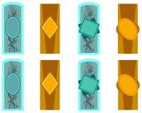 геометрический комплект ярлыков Стоковое Фото