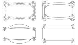 геометрический комплект вектора рамок пробела плана иллюстрация штока