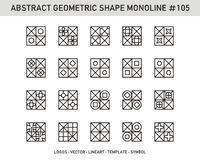 Геометрический комплект конспекта Стоковое Фото