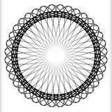 Геометрический круговой элемент - вращая спираль, форма свирли Стоковая Фотография