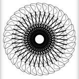 Геометрический круговой элемент - вращая спираль, форма свирли Стоковая Фотография RF