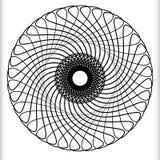 Геометрический круговой элемент - вращая спираль, форма свирли иллюстрация вектора