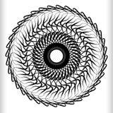 Геометрический круговой элемент - вращая спираль, форма свирли Стоковые Изображения
