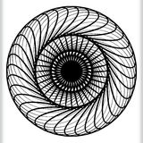 Геометрический круговой элемент - вращая спираль, форма свирли Стоковое Изображение RF