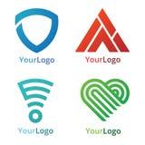 Геометрический логотип Стоковые Фото