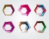 Геометрический пентагон Значок дела абстрактный Как знак, символ, логотип, сеть, ярлык Стоковое фото RF