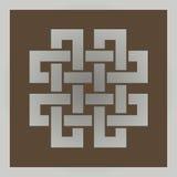 Геометрический перекрестный кельтский символ Стоковое Фото