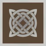 Геометрический перекрестный кельтский символ Стоковые Фотографии RF