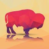 Геометрический полигональный буйвол, дизайн картины Стоковое Изображение