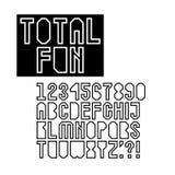 Геометрический полый комплект шрифта Стоковые Фотографии RF