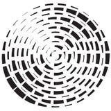 Геометрический радиальный элемент иллюстрация вектора