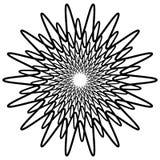 Геометрический спирально элемент - абстрактный геометрический мотив, дизайн el Стоковое фото RF