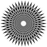Геометрический спирально элемент - абстрактный геометрический мотив, дизайн el Стоковая Фотография RF