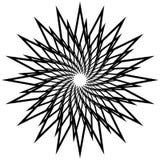 Геометрический спирально элемент - абстрактный геометрический мотив, дизайн el Стоковые Изображения RF