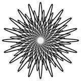 Геометрический спирально элемент - абстрактный геометрический мотив, дизайн el Стоковая Фотография