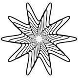 Геометрический спирально элемент - абстрактный геометрический мотив, дизайн el Стоковые Изображения