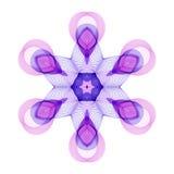 Геометрический стилизованный шестиугольный фиолетовый цветок на белой предпосылке иллюстрация штока