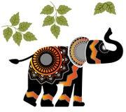 Геометрический слон Стоковое Изображение