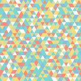 Геометрический треугольник голубого зеленого цвета желтого цвета картины мозаики белый оранжевый Стоковое Фото