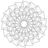 Геометрический цветок - круговой цветок лотоса картины, мандала, мотив Стоковое Изображение RF