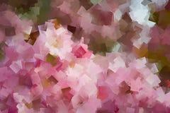 Геометрический цветочный узор в розовых пастельных цветах Стоковая Фотография RF