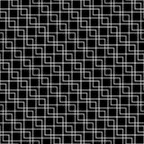 Геометрический черно-белый вид решетки подушки моды битника иллюстрация штока