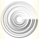 Геометрический элемент круга Абстрактная monochrome форма круга Стоковое Изображение RF