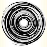 Геометрический элемент круга Абстрактная monochrome форма круга Стоковое Фото