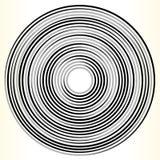 Геометрический элемент круга Абстрактная monochrome форма круга Стоковая Фотография